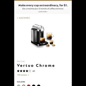 Nespresso Vertuo Line . Used for 3 months.